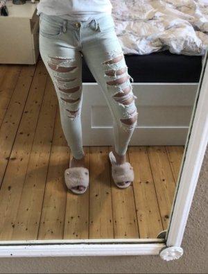 Ripped Jeans hellblau