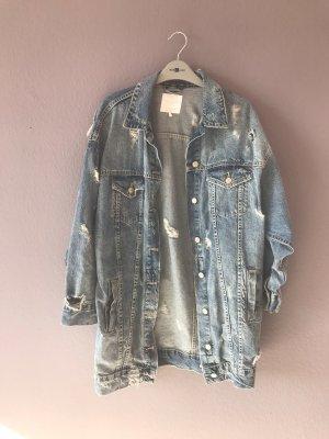 Ripped Jeans Jacke Zara