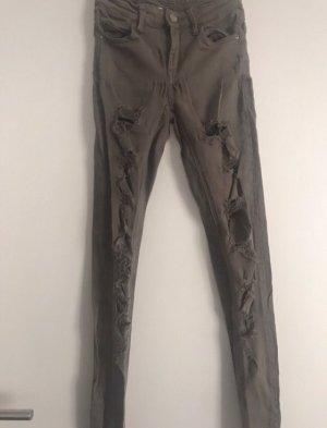 Ripped Jeans khaki Gr. 32 Tally Weijl