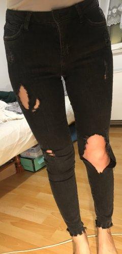 Ripped jeans mid rise skinny regular waist