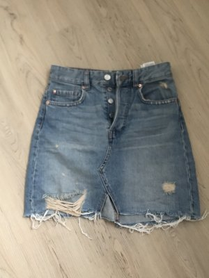 H&M Jupe en jeans bleu-bleu clair