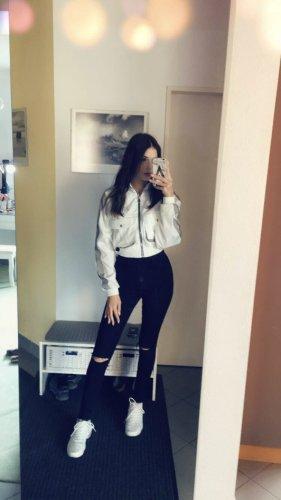 Zara Jeans a vita alta nero