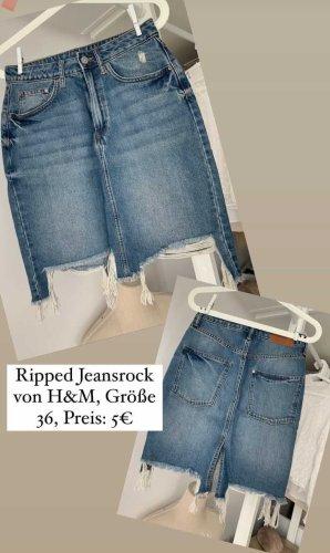 ripped Jeansrock