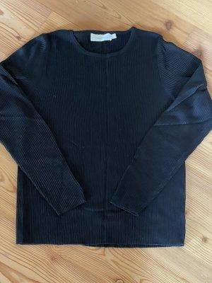 Marco Pecci Prążkowana koszulka czarny