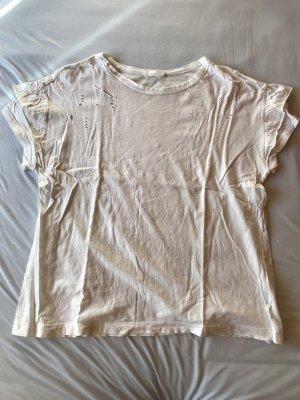 Ripped shirt mit rüschen