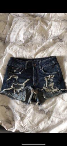 Ripped Shorts mit hohem Bund