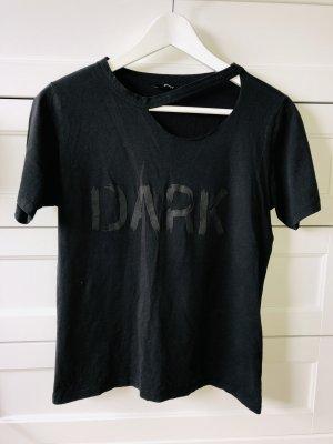Only Camisa acanalada negro-gris