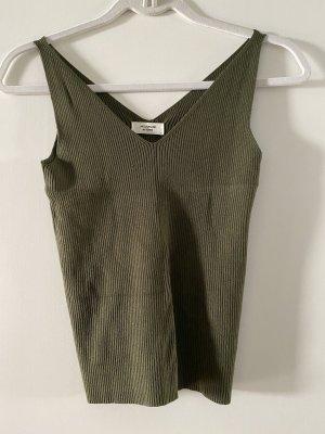 Jaqueline de Yong Haut basique gris vert-kaki