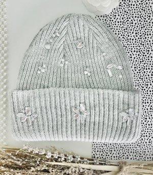 H&M Sombrero de punto gris-gris claro
