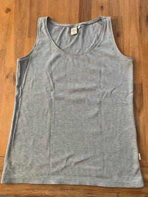 Tchibo / TCM Camisa acanalada gris claro