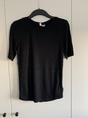 Rippshirt, schwarz