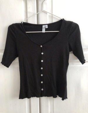 & other stories Camisa acanalada negro