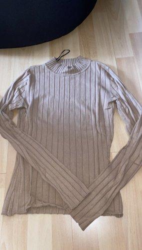 H&M Geribd shirt beige-camel