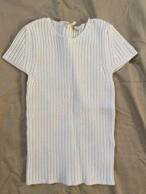 Maje Prążkowana koszulka biały