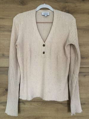 & other stories V-Neck Sweater natural white