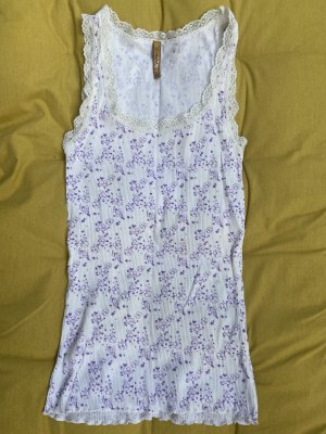 Cream Camiseta sin mangas blanco-púrpura