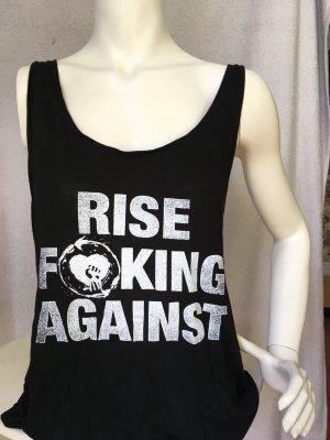 Rise Against Top mit halbfreiem Rücken