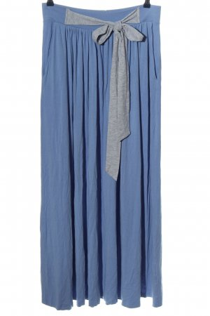 Risk Made in Warsaw Maxi Skirt blue-light grey flecked casual look