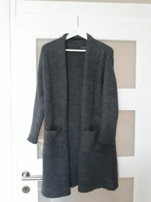 Knitted Coat dark grey-anthracite