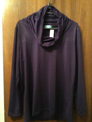 Rita Pfeffinger Turtleneck Sweater dark violet