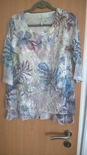 Rita Pfeffinger Shirt mit Spitze & Druck NEU Bunt Gr. 40