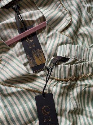Rituals 4 teiliges Pyjama Set aus Hemd, Hose, Schlafmaske und Hausschuhen Gr M