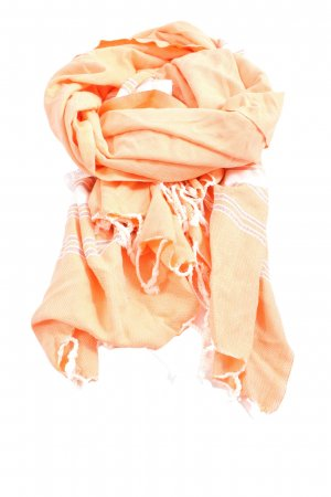 rituals Fringed Scarf light orange-white striped pattern casual look