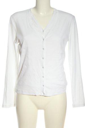 Rivamonti Camicetta a maniche lunghe bianco stile casual