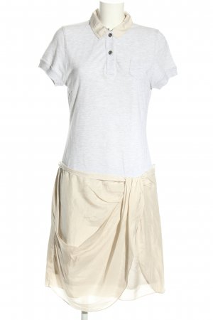 Rivamonti Polo Dress white-natural white flecked casual look