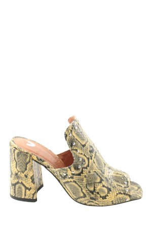 River Island Heel Pantolettes abstract pattern casual look