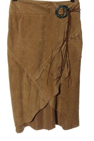 River Island Asymmetrische rok bruin casual uitstraling