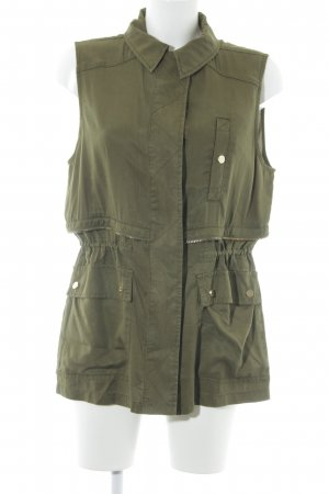 River Island Biker Vest khaki Metal elements