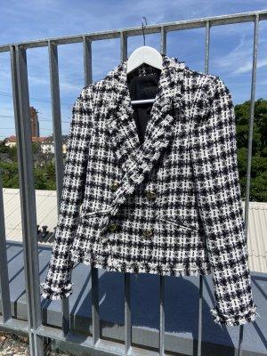River Island Blazer Tweed blanco-negro