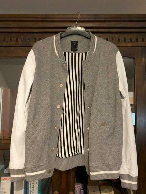 River Island Bomber Jacket light grey-white cotton