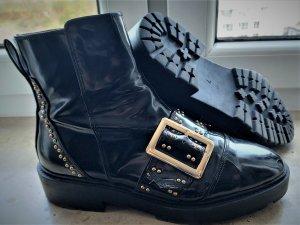 River Island Chelsea Boot noir tissu mixte
