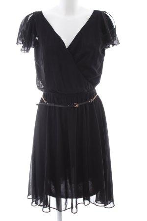 River Island Chiffonkleid schwarz Elegant