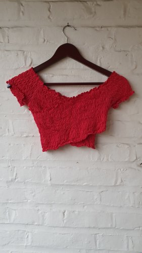 River Island Cropped Top red-dark red
