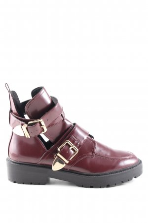 River Island Cut-Out-Stiefeletten rot Casual-Look