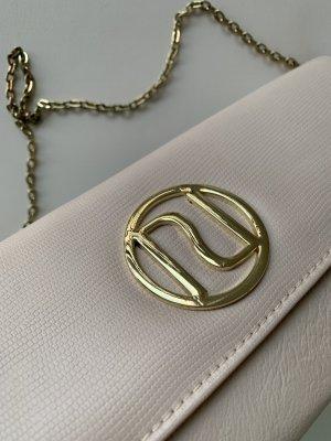 River Island Damen Tasche Clutch Beige mit Goldenen Details