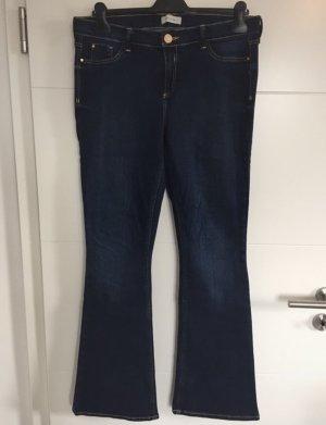River Island Jeans a zampa d'elefante blu scuro