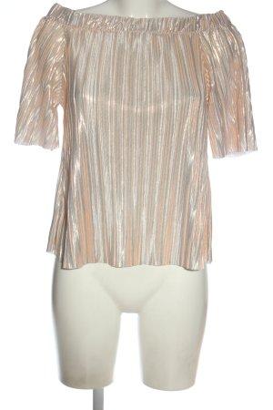 River Island Splendor Blouse silver-colored-nude striped pattern elegant