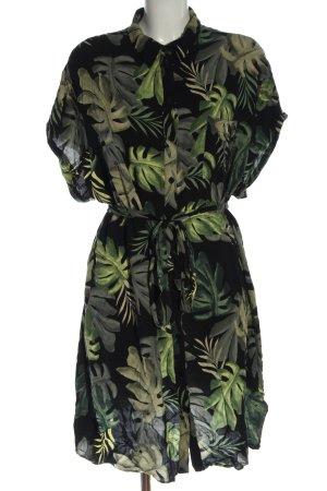 River Island Robe chemise noir-vert imprimé avec thème style décontracté