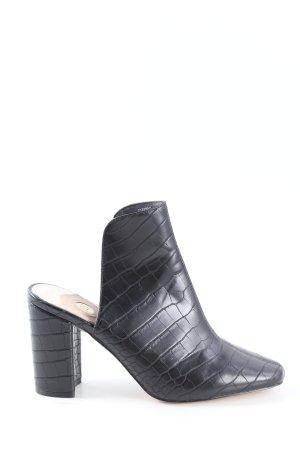 River Island High Heels schwarz Allover-Druck Elegant