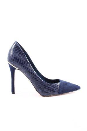 River Island High Heels blau Animalmuster Casual-Look
