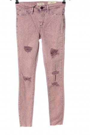 River Island Jeans taille haute rose style décontracté
