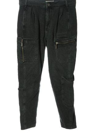 River Island Jeans taille haute noir moucheté style décontracté