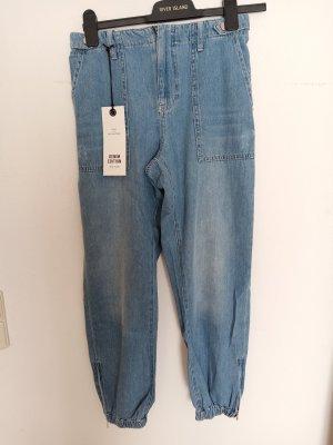 River Island Workowate jeansy jasnoniebieski-niebieski