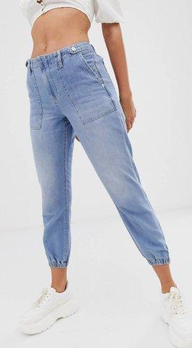 River Island Jeans larghi azzurro-blu
