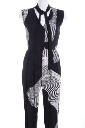 River Island Jumpsuit schwarz-weiß Allover-Druck Casual-Look