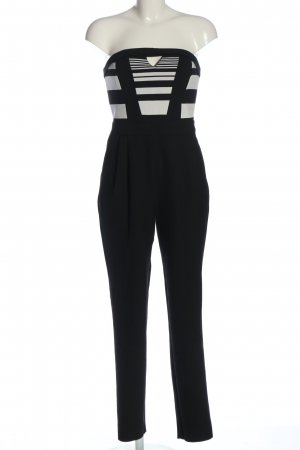 River Island Jumpsuit black-natural white striped pattern casual look